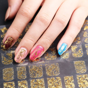 Bluezoo 3D Gloden Full Nail Art Sticker 60 Decals/sheet -YILIN 81-84