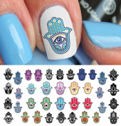 Hamsa Hand Hebrew Waterslide Nail Art Decals - Salon Quality!