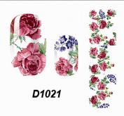 1-Pc Fanciness Popular Hot Nail Art Wraps Sticker Decoration Tips Flower Design Primer Foils Fashion Style D1021