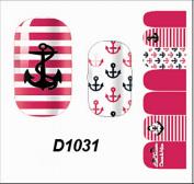 1-Sheet Heavenly Popular New Nails Art Wraps Sticker Manicure Decor Flower Design Primer Foils Fashion Style D1031