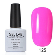 GEL LAB 10ml Soak Off Gel Nail Polish UV LAMP Long Lasting Top Coat Base Coat Foundation Choose 1 Colour from 206 colours No.121-150
