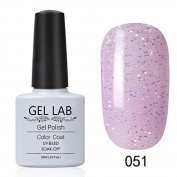 GEL LAB 10ml Soak Off Gel Nail Polish UV LAMP Long Lasting Top Coat Base Coat Foundation Choose 1 Colour from 206 colours No.031-060