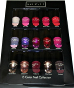 Max Studio 15 Colour Nail Collection, 0.16 fl oz/4.5 ml each