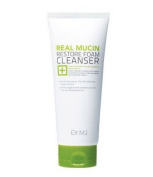Dr. MJ Real Mucin Restore Foam Cleanser 180ml (6 oz) Natural Mild Cleansing Ingredients Removing Makeup & Impurities to Create a Clear Skin Texture