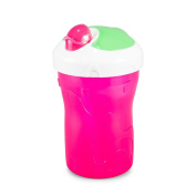 BooginHead SippiSnack Cup with Snack Holder, Pink/Green