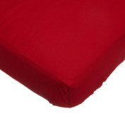 TL Care 100% Cotton Percale Fitted Crib Sheet, Red, 70cm x 130cm