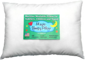 Toddler Pillow 13x18 - Delicate White Cotton Shell - Soft & Hypoallergenic - Made in USA - Better sleep for Infants, Toddlers Kids - Chiropractor Recommended -Great for Travel