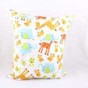 Wawoo & #174 Baby Cloth Nappy Bag 28cm x 38cm Print Patterns Owl Elephant Birds Monkey Waterproof Soft Storage Bag Wet Dry Bags
