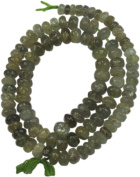 Prehnite Gemstone Rondell 6mm - 7""
