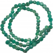 Green Agate Tiny Flat Coin 4mm - 7""