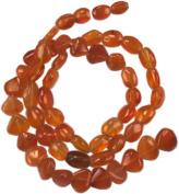 """Carnelian Oval/ Heart Beads 6-8-10mm - 7"""""""