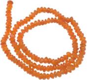 "Carnelian Rondell Beads 4mm - 7"""