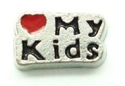 Cherityne Love My Kids Floating Charm for Locket Pendants