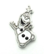 Cherityne Olaf Snowman Cartoon Character Floating Charm for Locket Pendants