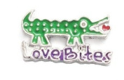 Cherityne Love Bites Crocodile Floating Charm for Locket Pendants