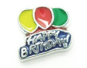Cherityne Happy Birthday Balloons Floating Charm for Locket Pendants