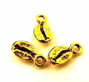 Set of Three (3) Gold Tone Coffee Bean Charms