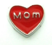 Cherityne Mom Red Heart Floating Charm for Locket Pendants