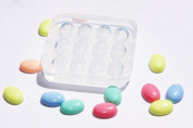 Clear-silicone jewellery Oval Cabochon 13X18mm, 12 pc.Good for pendant,earrings,bracelet,art,craft.