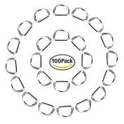 eBoot 100 Pack Metal D Ring, 1/ 5.1cm