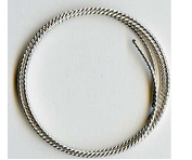 16 Gauge .925 Sterling Silver Twist Dead Soft Round Wire - 0.6m