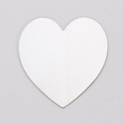 Nickel Silver 24ga- 3.5cm . x 2.8cm . Large Heart - MET-636.10G
