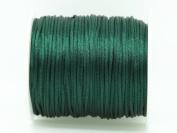 DARK GREEN 1mm Bugtail Satin Cord Shamballa Macrame Beading Nylon Kumihimo String
