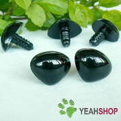 40mmx31mm Black Triangle Nose / Safety Nose / Plastic Nose - 1 Piece