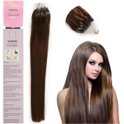 Haibis Straight Loop Double Silicone Micro Ring Beads Tipped Remy Human Hair Extensions 1g/s,100s