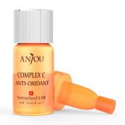 Anjou Complex C Anti-Oxidant, Vitamin C Serum for Face with Hyaluronic Acid, Age Defying, 7-Day Size for Weekly Use - 1 x 7ml / 0.23fl.oz.