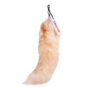 URSFUR Finland Crystal Fox Tail Fur Handbag Accessories Hanging Key Chain Tassels