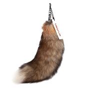 URSFUR Authentic Sunny Fox Tail Fur Handbag Accessory Key Chain Ring Hook Tassel