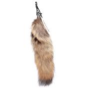 URSFUR Red Wolf Fox Tail Fur Key Chain Hanging Tassel Accessory Cosplay Toy