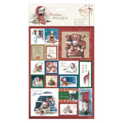 Wellington Christmas A5 Postage Stamp Die Cuts 32/Pkg 516004