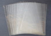 100 Shrink Wrap Bags 15cm x 18cm 100 guage plastic for cd's, gifts & crafts