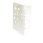 Iable 30 X Paper Tea Light Candle Lantern Bags Wedding Party Garden BBQ Xmas Decor