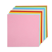 Caydo Double Sided Origami Paper 15cm by 15cm with 10 Colours, 100 Sheets