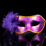 Decath Mistery Luxury Mysterious Pretty Lady Glitter Mask, Women's Gorgeous Venetian Masquerade Mask