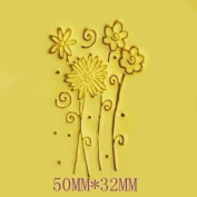 Flowers pattern Mini diy soap stamp chaprter seal badge 5*3.2 cm