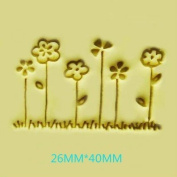 six little flower pattern Mini diy soap stamp chaprter seal 2.6*4cm