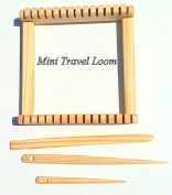 13cm Travel Loom kit 13cm . wide X 13cm . length. Tools included