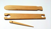 3 Piece 46cm weaving stick shuttle and Pick up stick