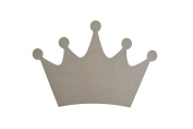 King Crown Shape Wood Cut Out Wooden Unfinished Paintable MDF 33cm Wide x 23cm Tall