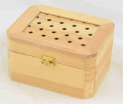BX1376M Medium Wood Box with Lattice Type Top