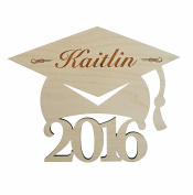 Graduation Cap 2016 Personalised Engraved Wood Hat Cut 25cm inch tall