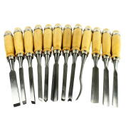 Driak Professional 12 Piece Wood Carving Hand Chisel Tool Set