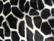 Black White Giraffe Velboa Faux Fur Fabric - Sold By The Yard - 150cm / 150cm