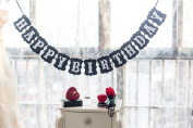 Happy Birthday Vintage Bunting Banner Birthday Photo Booth Prop Party Decoration Garlands Party Supplies