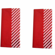 (2) Packages Spritz Tissue Paper Red Stripe, 10 Sheets