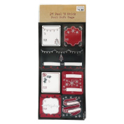 Holiday Red & Black Peel 'N Stick Foil Gift Tags 21ct